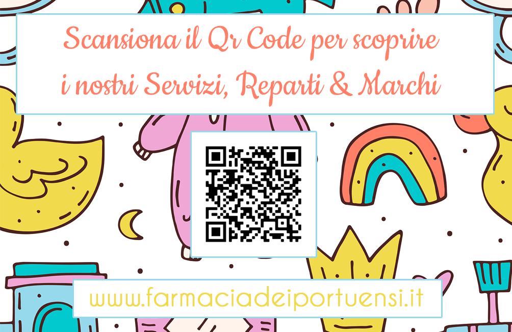 qr code baby gift card farmacia dei portuensi fiumicino